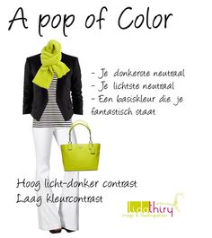 Het is niet moeilijk om kledingcombinaties te maken als je weet wat je kleurcontrast, je licht-donker contrast en de 'temperatuur' van je kleuren moet zijn. Je krijgt een zeer werkbare garderobe op de koop toe. Een kleuradvies maakt alles zoveel gemakkelijker ......http://www.lidathiry.nl/kleurengids