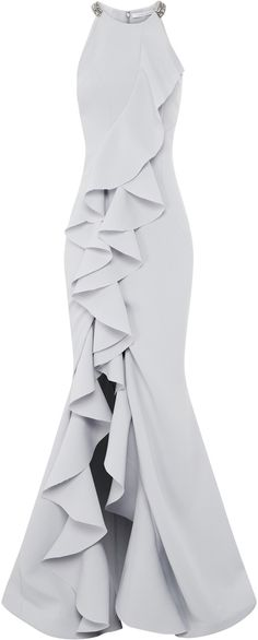 This **Rachel Gilbert** Cecilie Gown features a full length hemline and a fitted silhouette. Trendy Dresses, Elegant Dresses, Beautiful Dresses, Casual Dresses, Formal Dresses, Classy Gowns, Classy Dress, Classy Chic, Elegant Chic