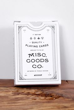 Misc. Goods Co. Cards White