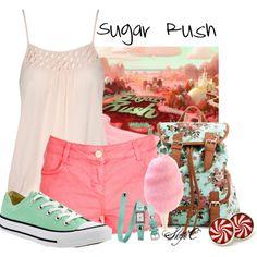 """Sugar Rush - Summer - Disney's Wreck-It-Ralph"" by rubytyra on Polyvore"