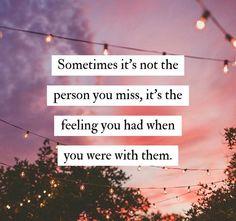 Missed feeling