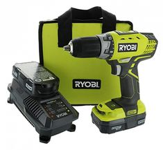 Ryobi One+ Compact Drill / Driver Kit Piece Bundle: Drill / Driver Power Tool, 18 Volt Battery, 18 Volt Battery Charger, Lime Green Ryobi Tool Bag) - Products Lists of Tools and Hardware Ryobi Tools, Driver Tool, Drill Driver, Distressed Furniture Painting, Refinished Furniture, Painted Furniture, Cordless Drill Reviews, Wooden Lanterns