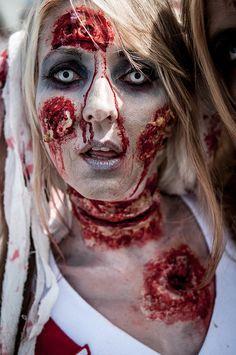 Zombie cheerleader makeup halloween pinterest zombie zombie cheerleader solutioingenieria Gallery