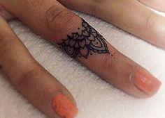 Finger Knuckle Tattoo Design.