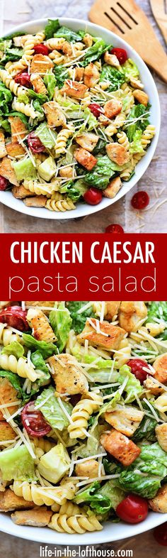 It's this time of year salads are my go-to for lunches and dinners. Honestly, I eat them year round but during the summer they become what I eat almost daily. There are so many amazing and flavorful salads out there but this CHICKEN CAESAR PASTA SALAD has Pasta Recipes, Chicken Recipes, Dinner Recipes, Cooking Recipes, Healthy Recipes, Soup Recipes, Chicken Appetizers, Shrimp Recipes, Fish Recipes