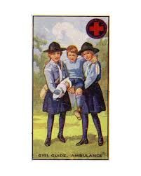 1920's Girl Guide Ambulance Badge poster