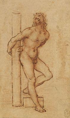 A nude young man bound to a column Leonardo da Vinci (Vinci 1452-Amboise 1519)
