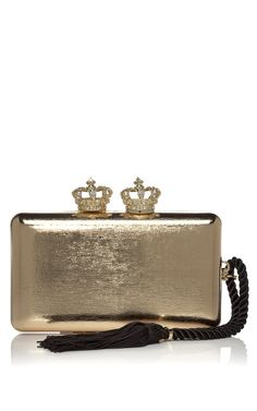 Serpui Marie Gold Empire Metallic Minaudiere