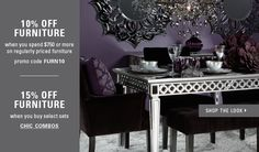 Purple dinning room from Z Gallerie