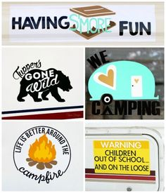 Create your own custom camper/ car decals with outdoor vinyl- FREE Silhouette cut files