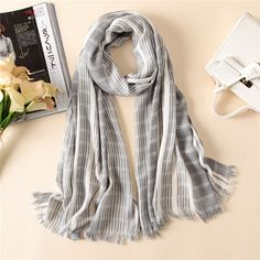 Vanled brand 2017 autumn and winter cotton women scarf fashion striped shawls lady pashmina long bandana female cachecol foulard