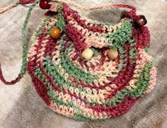 Crochet Earth Tone Beaded Purse by LFDSIStore on Etsy, $10.00