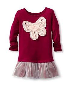 Design History Baby Bow Dress (Razzleberry)