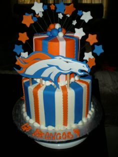 Denver Broncos Cake  OMG I want this for my birthday