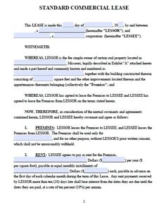 Free Missouri Commercial Lease Agreement U2013 PDF Template   Commercial Lease  Agreement Sample