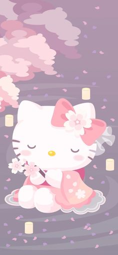 Sanrio Wallpaper, Hello Kitty Wallpaper, Girl Wallpaper, Sanrio Characters, Cute Characters, Cute Mobile Wallpapers, Phone Wallpapers, Satisfying Pictures, Kitty Images