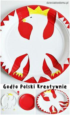 godło Polski kreatywnie - praca plastyczna dla dzieci Plastic Cutting Board, Paper, Creative, English, English Language