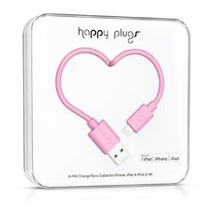 { Dallas Shaw picks: Colorful pink USB to Lightning cable from Happy Plugs } Great gift idea too for your work friends!!