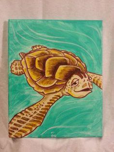 Baby Sea Turtle by ZeetheArtist
