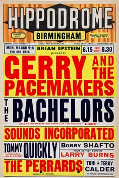 GERRY AND THE PACEMAKERS CONCERT POSTER