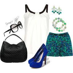 Blues and greens and blue greens..., created by yvonne2214 on Polyvore