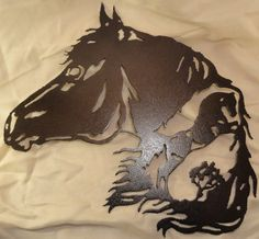 Horse with a Horse Scene Metal Wall Art by BeadtasticTreasures, $42.00
