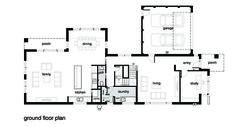 Modern Style House Plan - 4 Beds 2.5 Baths 3584 Sq/Ft Plan #496-18 Floor Plan - Main Floor Plan - Houseplans.com
