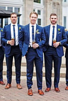 Wedding Tuxedos Two-Button Groom Tuxedos Groomsman Suit Blue Wedding Party Suit (Jacket+Pants) Cus. party navy Wedding Tuxedos Two Button Groom Tuxedos Groomsman Suit Blue Wedding Party Suit Jacket+Pants Custom White Tuxedo Wedding, Blue Suit Wedding, Wedding Men, Wedding Tuxedos, Men Wedding Attire, Wedding Navy, Wedding Ideas, Navy Prom Suit, Party Wedding