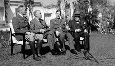 January 14, 1943  The Casablanca Conference opens in French Morocco.  Winston Churchill of Great Britain, General Charles de Gaulle & General Henri Honore Giraud of France, & Franklin D. Roosevelt of the United States agree on Allied war aims including securing the unconditional surrender of the Axis powers.