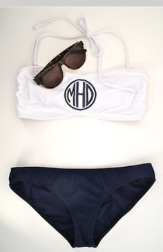 More cute monogrammed bathing suites