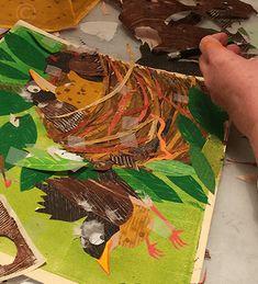 Denise Fleming: Illustration process for ROBIN