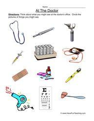 Doctor's Office Worksheet - Have Fun Teaching