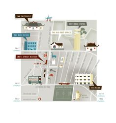 Wan Chai Heritage Map by SmallEditions on Etsy @Tania Willis