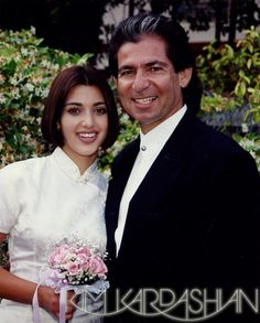 1994 from Growing Up Kardashian: Kim Kardashian  Kim and Robert Kardashian at her 8th grade graduation!