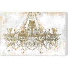Hang this artful canvas print above your living room seating group to create a stylish conversation space, or display it in the foyer for eye-catching appeal. Crafted in the USA, this chic design showcases a chandelier motif.    Product: Canvas print Construction Material: Canvas and wood   Features:  Hand-stretched Gallery-wrappedReady to hang Made in the USA Certificate of authenticity by the artist included       Cleaning and Care: Dust lightly using a clean, lint-free cloth