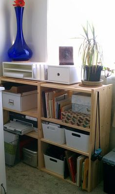Ikea hack. Four RAST night stands only $15/pc. = cheaper than Expedit?
