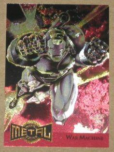 Marvel Metal (Fleer 1995) Metal Blaster Card #17 War Machine EX-MT