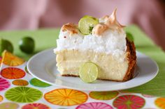 Key Lime Pie Cheesecake with Sky-High Meringue from Willow Bird Baking.