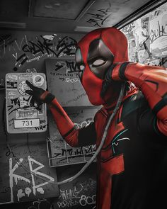 Deadpool на проводе? Да.. онли провод.. никаких трубок. Deadpool, Superhero, Fictional Characters, Art, Art Background, Kunst, Fantasy Characters, Art Education