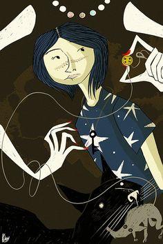 Original Illustrations by Reimena Ashel Yee. Coraline!