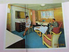 SS NIEUW AMSTERDAM- HOLLAND AMERICA- DELUXE CRUISE PLAN- COLOR PHOTOS-1964