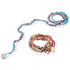 Bead + Chain Multi Wrap Bracelet, $38