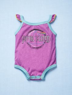 Rowdy Sprouts Pink Floyd Flutter Onesie $26