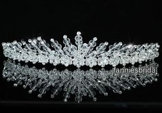 i could work with this. Bridal Tiara, Bridal Headpieces, Hair Jewelry, Wedding Jewelry, Jewellery, Wedding Tiaras, Hair Decorations, Sparkle Wedding, Wedding Hair Pieces