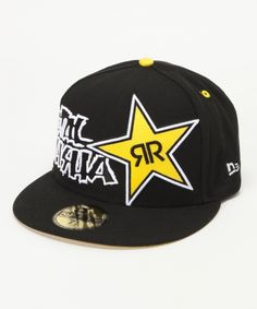 91ab30a0f0c3c COLOR BLK ROCKSTAR BLASTED HAT Motocross Clothing