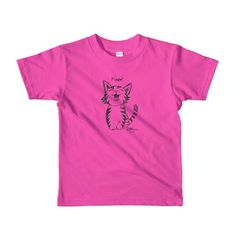 Short sleeve kids T-Shirt Unisex - Meow Kitty   #T #COOLstuff #Rings #picture #photo #Colors #cool! #Mood #photography #Pets