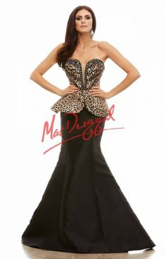 Cassandra Stone by Mac Duggal Leopard Peplum Mermaid Gown 2015 Prom Dresses Prom Dresses 2015, Pageant Dresses, Prom 2015, Strapless Dress Formal, Formal Dresses, Fancy Dress Up, Mermaid Gown, Animal Print Dresses, Designer Dresses