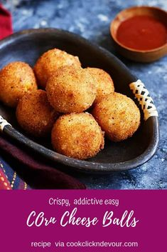 Cheese corn balls recipe with step by step photos. learn how to make crispy veggie loaded cheese corn balls with this easy recipe. Best Vegetable Recipes, Homemade Vegetable Soups, Veg Recipes, Cheese Corn Balls Recipe, Cheese Toast Recipe, Appetizer Recipes, Snack Recipes, Cooking Recipes, Dinner Recipes