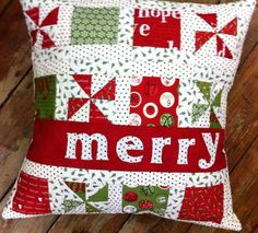 would make a cute row quilt or table runner - I'm not really into pillows