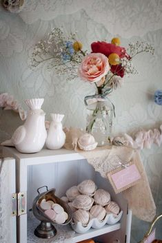 Anthropologie Chic Baby Shower | CatchMyParty.com